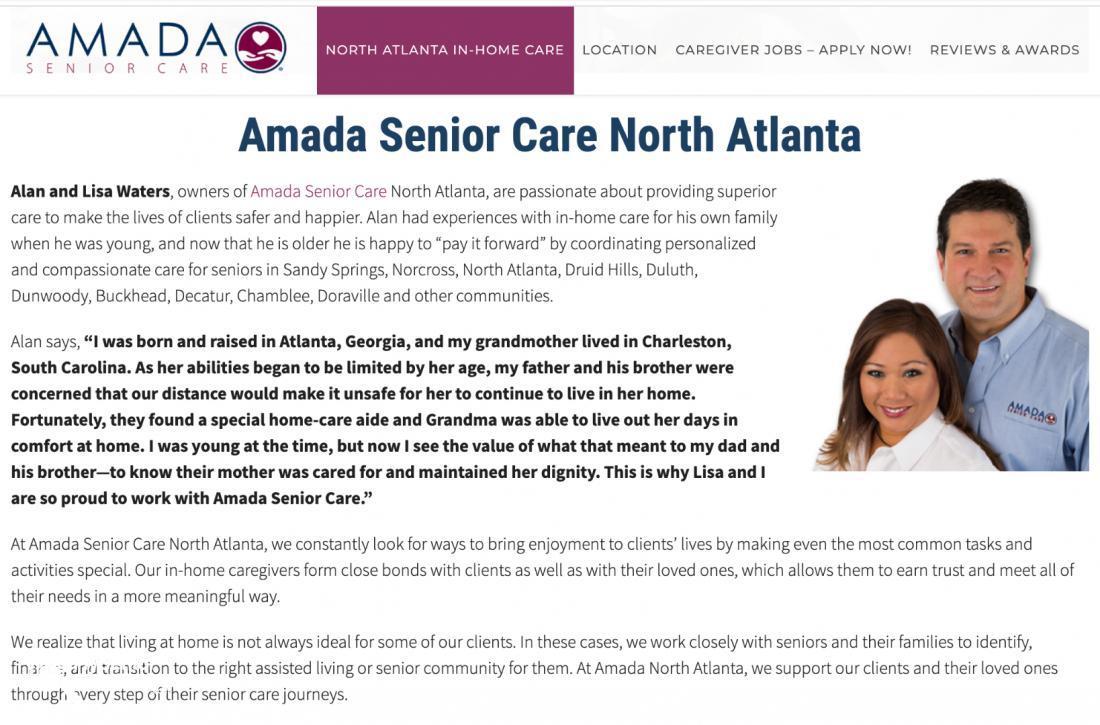 AMADA SENIOR CARE NORTH ATLANTA - Lisa Waters - Atlanta, GA
